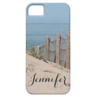 Sand dune and beach fence by the ocean iPhone 5 case