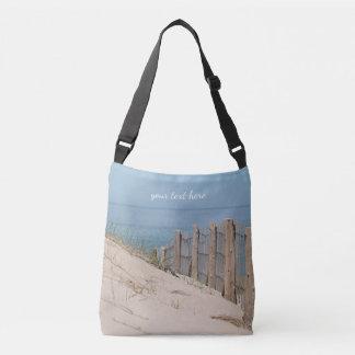 Sand dune and beach fence crossbody bag