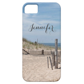 Sand dune and beach fence on Cape Cod iPhone 5 Cases