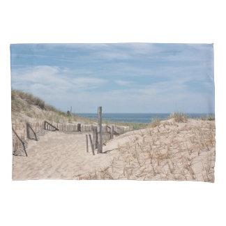 Sand dune and beach fence pillowcase