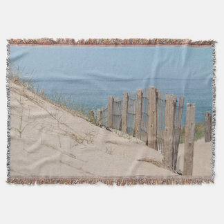 Sand dune and weathered beach fence