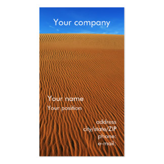 """Sand dune"" business card"