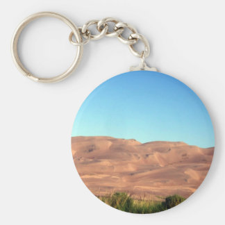 sand dunes 049 basic round button key ring