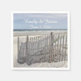 Sand Dunes and Beach Fence Disposable Napkins