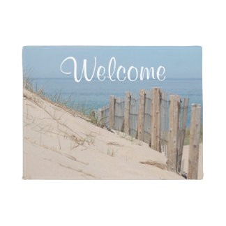 Sand dunes and beach fence doormat