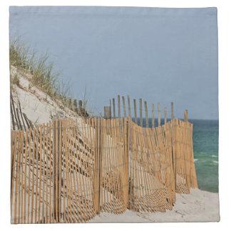 Sand dunes and beach fence napkin