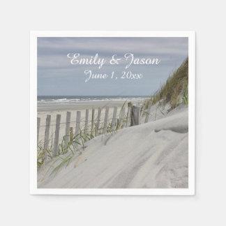 Sand Dunes and Beach Fence Paper Serviettes