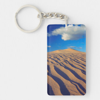Sand Dunes and Clouds Double-Sided Rectangular Acrylic Key Ring