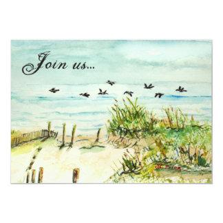 Sand Dunes and Seagulls Outer Banks North Carolina Card