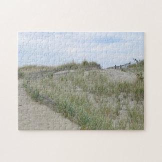 Sand dunes at Nauset Beach, Cape Cod Jigsaw Puzzle