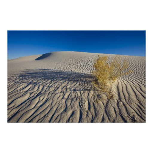 Sand dunes at White Sands National Monument in 3 Print