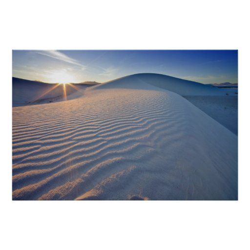 Sand dunes at White Sands National Monument in 5 Posters
