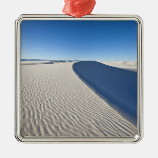 Sand dunes at White Sands National Monument in Metal Ornament