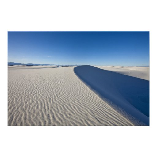 Sand dunes at White Sands National Monument in Posters