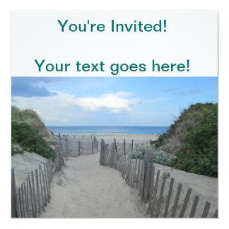Sand Dunes Block Island 13 Cm X 13 Cm Square Invitation Card