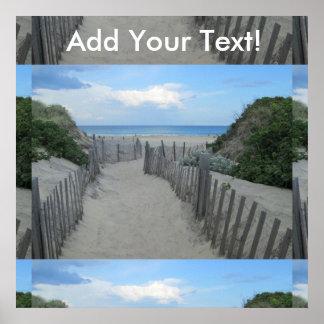 Sand Dunes Block Island Poster