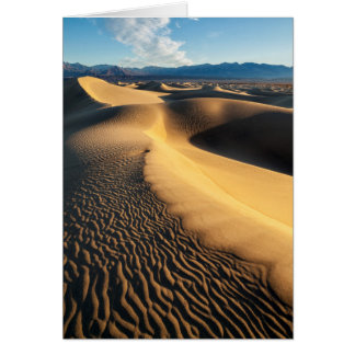 Sand dunes in Death Valley, CA Card