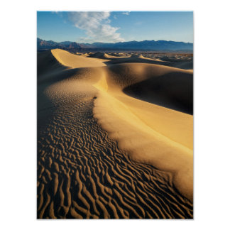 Sand dunes in Death Valley, CA Poster