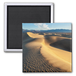 Sand dunes in Death Valley, CA Square Magnet
