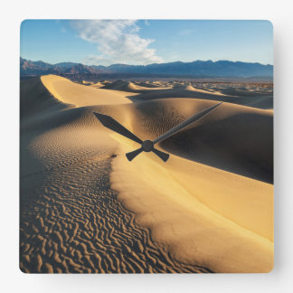 Sand dunes in Death Valley, CA Square Wall Clock