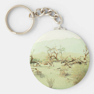 Sand Dunes of Death Valley Basic Round Button Key Ring