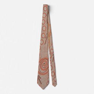 Sand Echoes Aboriginal Art Tie