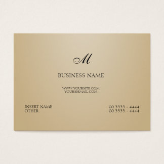 Sand Elegant and Monogram Business Card