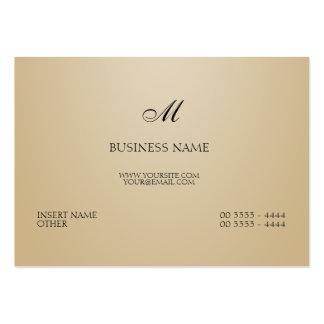Sand Elegant and Monogram Pack Of Chubby Business Cards