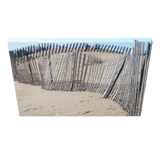 Sand Fence on Virginia Beach Canvas Print