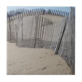 Sand Fence on Virginia Beach Ceramic Tile