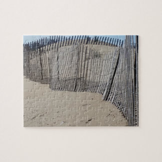 Sand Fence on Virginia Beach Jigsaw Puzzle