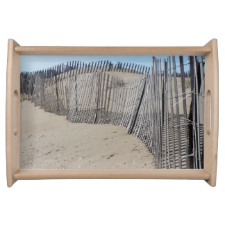Sand Fence on Virginia Beach Serving Tray