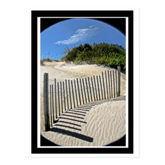 Sand fence post cards