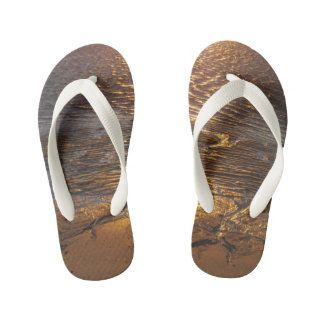 Sand Flats Sunset Reflection Kid's Thongs