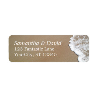 Sand & Foam Beach Photo Wedding 2 Return Address Label