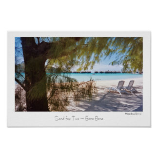 Sand for Two ~ Bora Bora ~ Travel Poster