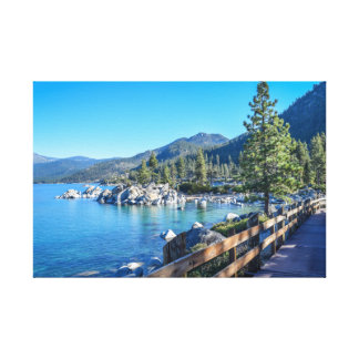 Sand Harbor Boardwalk Canvas Print