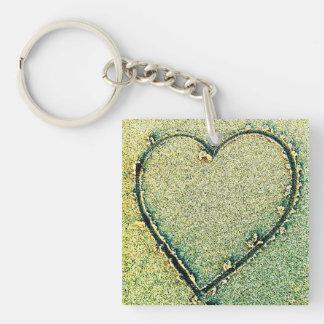Sand Heart Key Chain