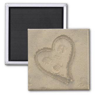 Sand heart magnet