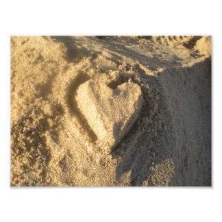 Sand Heart Photo Print