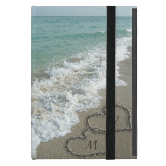 Sand Hearts on the Beach, Custom Cover For iPad Mini