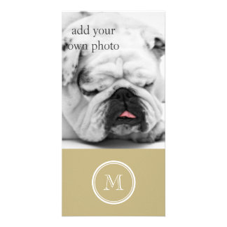 Sand High End Colored Personalized Customized Photo Card