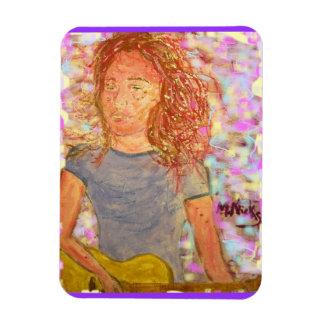 sand in her hair rectangular photo magnet