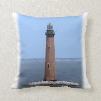 sand island lighthouse throw pillow