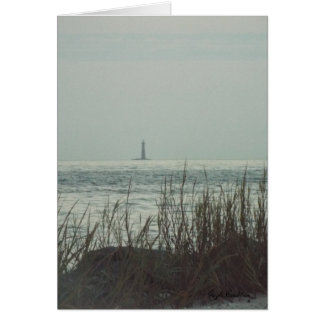 Sand Lighthouse Gulf Coast greeting card