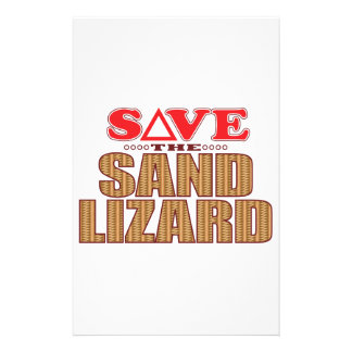 Sand Lizard Save Stationery Design