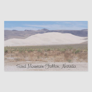 Sand Mountain Fallon, Nevada Rectangular Sticker