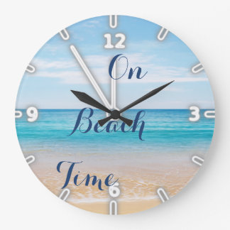 Sand Ocean Sky ,Beach Wall Clocks