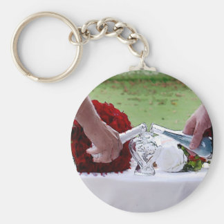 Sand Painting Series Basic Round Button Key Ring