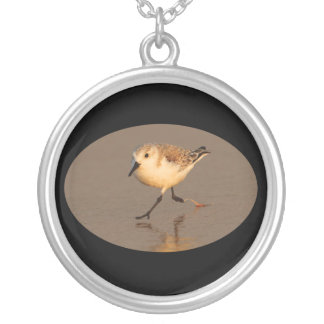 Sand Piper Running on Beach Custom Jewelry